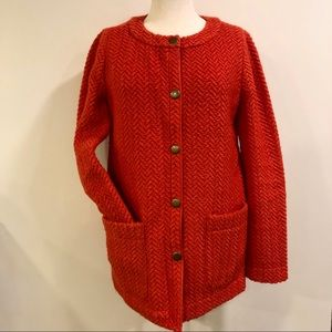 Super cute wool blend sweater jacket